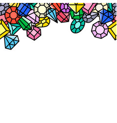 jewels background vector image