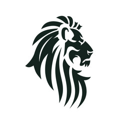 lion head image vector image