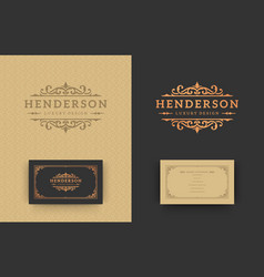 Luxury logo monogram crest template design vector