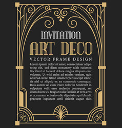 Luxury vintage frame art deco style vector