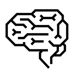 Machine brain icon outline style vector