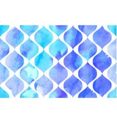 Morrocan ornament blue colors vector