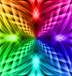 Multicolored pattern on the black background vector