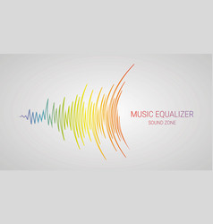 music wave logo color pulse audio player vector image