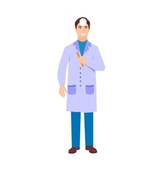 Ophthalmologist doctor character isolated vector