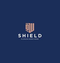 ow dw shield logo vector image