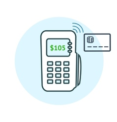 Payment method icons vector