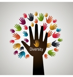People diversity colorful icon vector