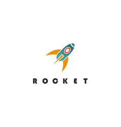 rocket education logo vector image