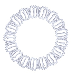 Round frame on a white background - silver chain vector