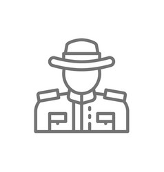 royal canadian mounted police line icon vector image