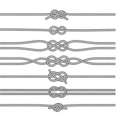 sailing knots horizontal borders or deviders vector image