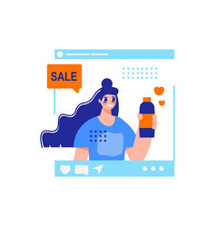 Sale product woman composition vector