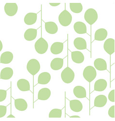 seamless pattern of abstract leaves on a white vector image