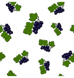 Seamless Pattern of Blackcurrant vector