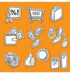 Shopping set v vector