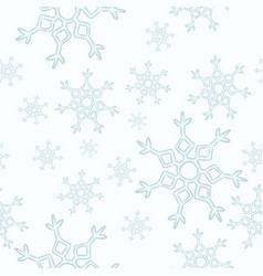 snowflakes seamless pattern winter cartoon vector image