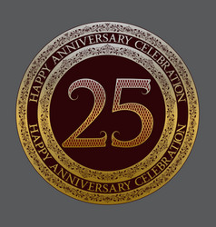 twenty fifth anniversary celebration logo symbol vector image
