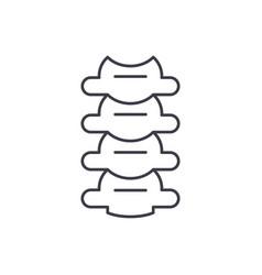 vertebrae line icon concept vertebrae vector image