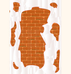 Very old plastered wall vector