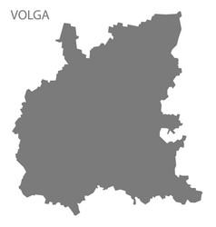 Volga russia map grey vector