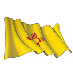 waving flag state new mexico vector image