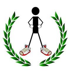 Winner symbol vector image