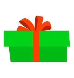 xmas gift box icon flat style vector image