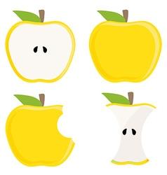 Yellow apple set vector image