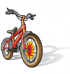 children bicycle vector image vector image