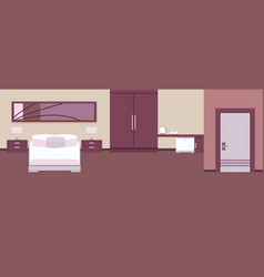 interior hotel room vector image