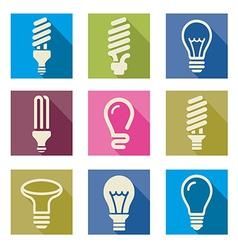 Light bulbs Bulb icon set vector image vector image