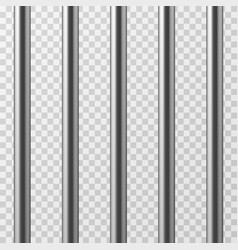 realistic metal prison bars jailhouse grid vector image vector image