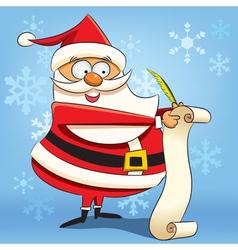 santa writing wish list vector image