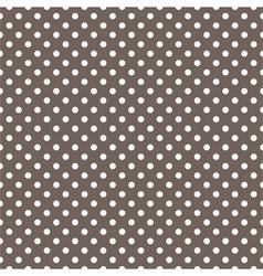 Seamless pattern white polka dots dark background vector image vector image