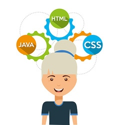 software programmer vector image