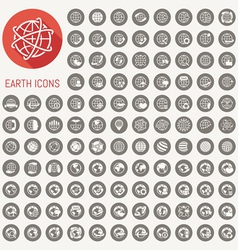 109 Earth icons set vector image vector image