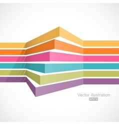 Colorful horizontal lines in perspective vector image vector image