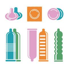 condoms pictograms vector image