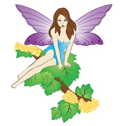 fairy on the tree vector image