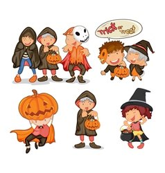 Halloween items vector image