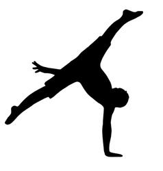 High quality original boy gymnastic doing splits vector image vector image