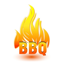 Hot barbecue logo vector image vector image
