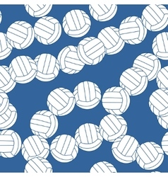 Volleyball seamless pattern Sports balls on blue vector image
