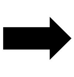 arrow icon on white background arrow sign black vector image vector image
