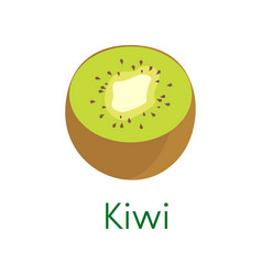 cartoon natural kiwi isolated on white background vector image