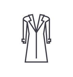 coattopcoat line icon sign vector image vector image