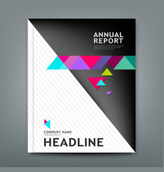 cover annual report design geometric template lay vector image vector image