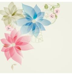 Floral corner card vector image