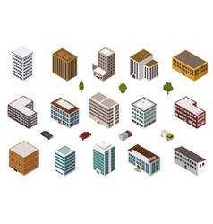 Isometric Buildings vector image vector image